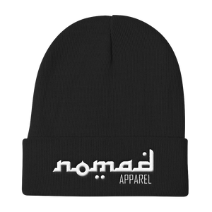 NOMAD White Signature (3 DOT) Knit Beanie