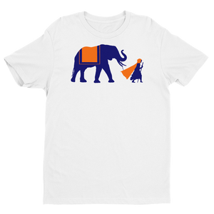 NOMAD Silhouette Men's Premium Tee (Navy/Orange)