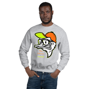Fly Ostrich Face Sweatshirt (Safety Orange/ Neon Yellow)