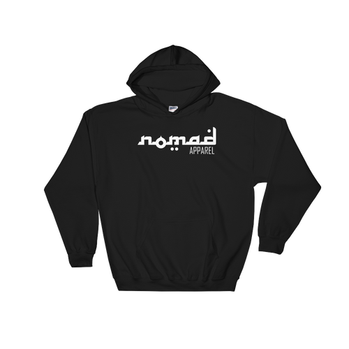 NOMAD White Signature (3 DOT) Unisex Hooded Sweatshirt