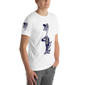Fly Ostrich Mascot T-Shirt (Midnight/ Grey)