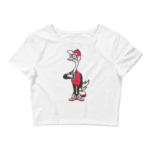 Fly Ostrich Women's Crop Top Tee