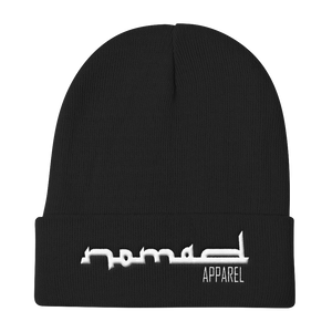 NOMAD White Signature Knit Beanie