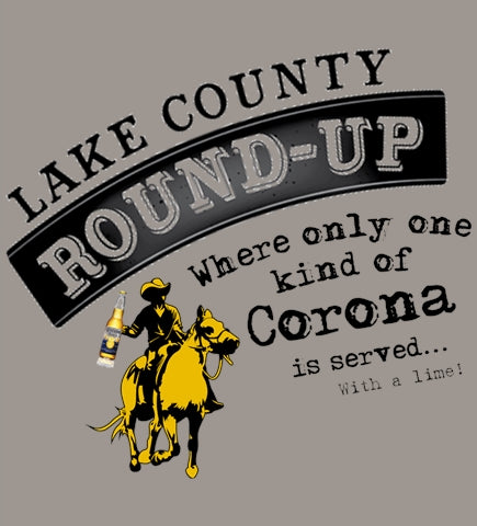Lake County Round-Up Serves Corona.. With a Lime! - Light Gray