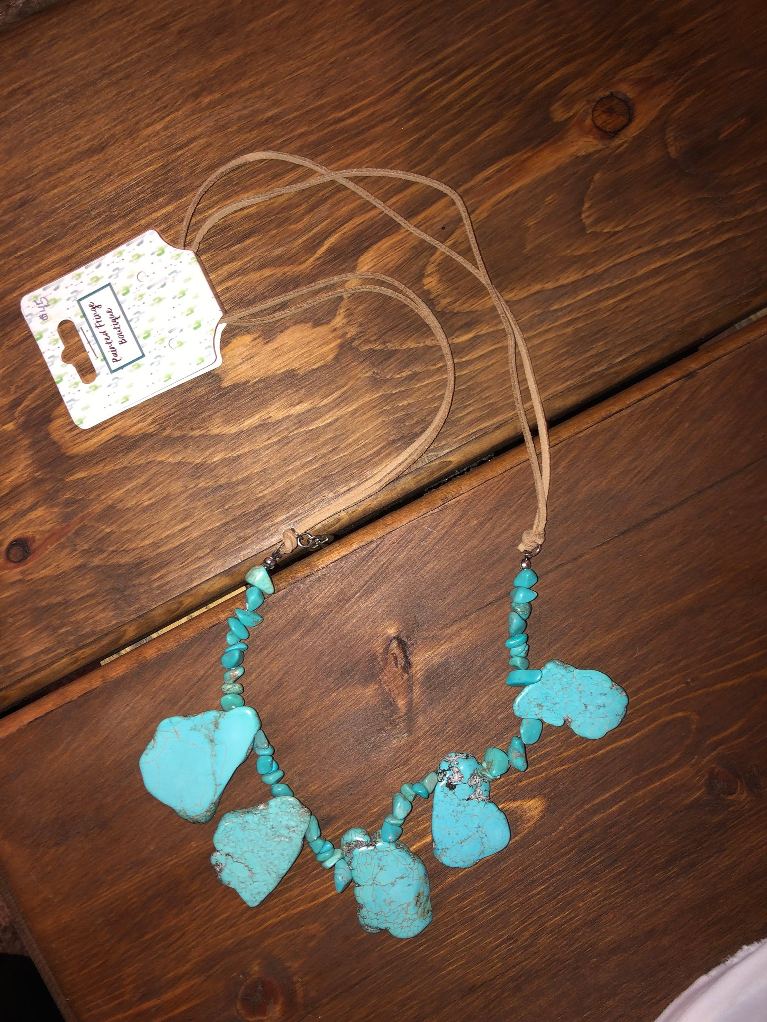 Classic Turquoise Slab Necklace
