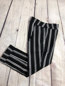 Tribal Striped Cuff Capri