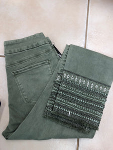 Moss Summer Sparkle Jeggings - Tribal Brand