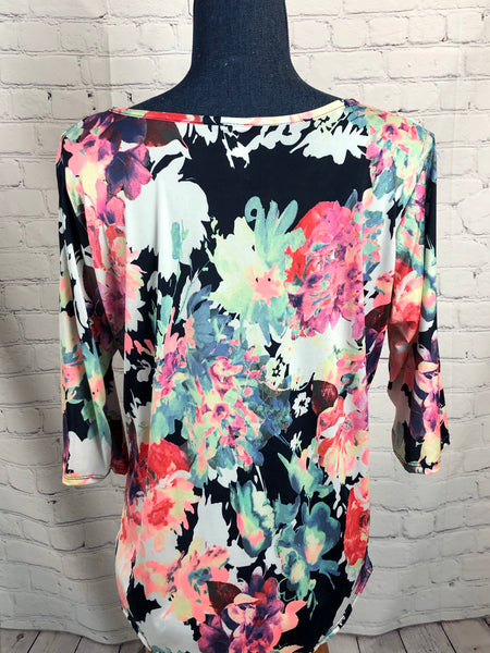 The Plus Sized Blooming Blouse