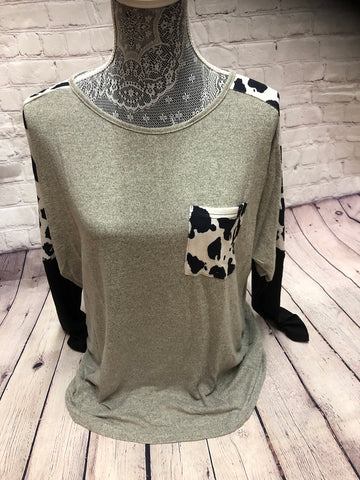 Cowhide Longsleeve - 2 colors