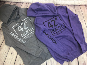 Lakeview Latitude Sweatshirts (Purple & Gray)