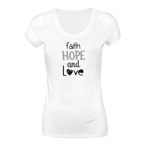 Camiseta Faith Hope Love CG-LL-1577-BR Long Look
