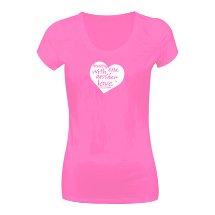 Camiseta Bearing with one another in love CG-LL-1580-RS Long Look