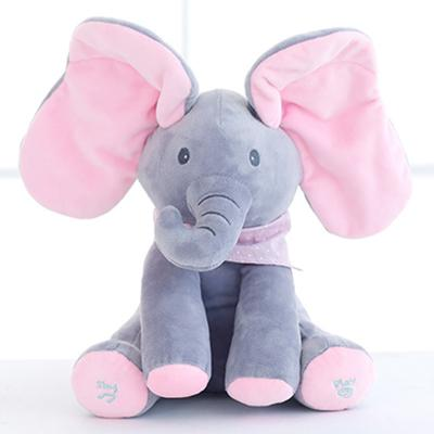 Peek a Boo Plush Elephant & Dog - FREE SHIPPING TODAY!!