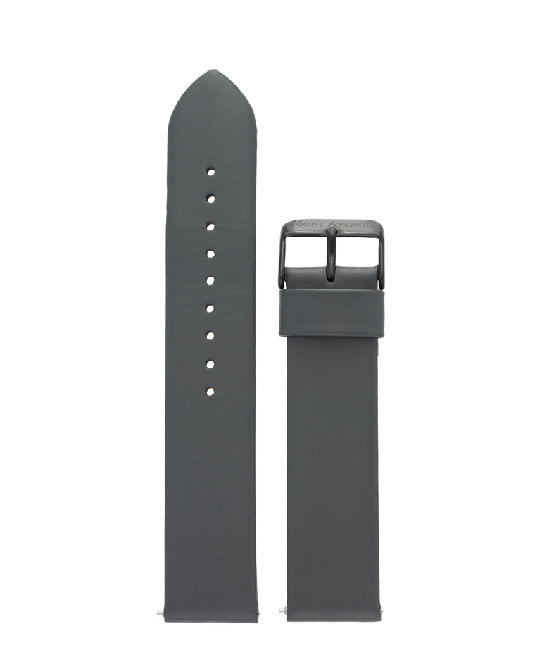 GREY & BLACK LEATHER STRAP