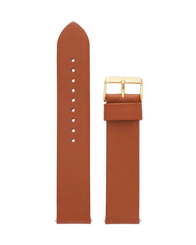BROWN & GOLD LEATHER STRAP