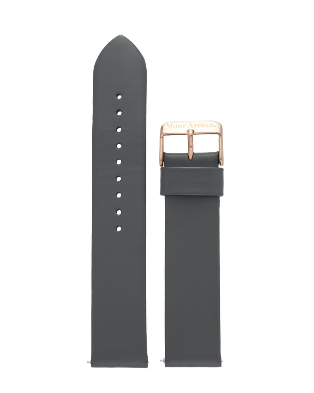 GREY & ROSE GOLD LEATHER STRAP