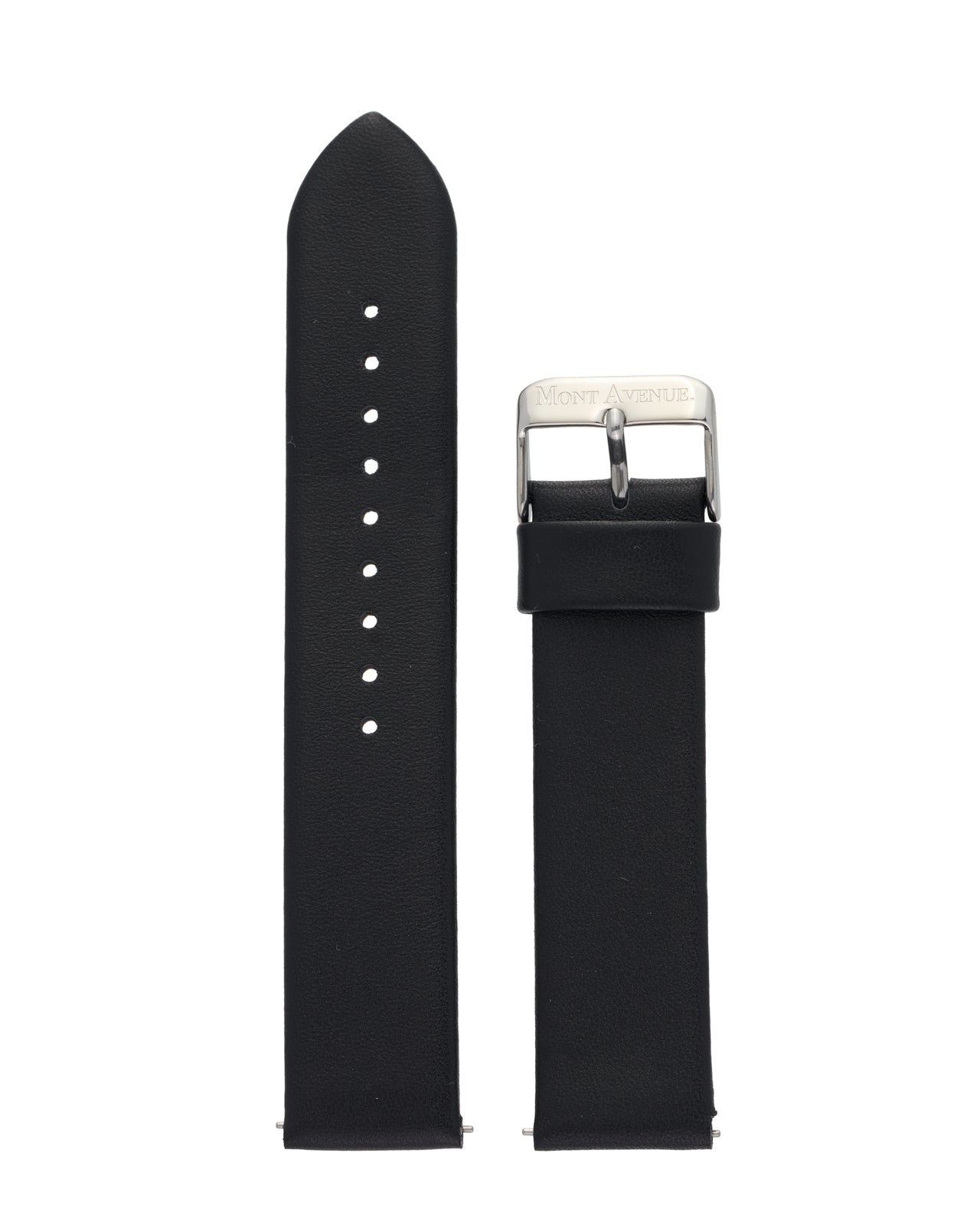 BLACK & SILVER LEATHER STRAP