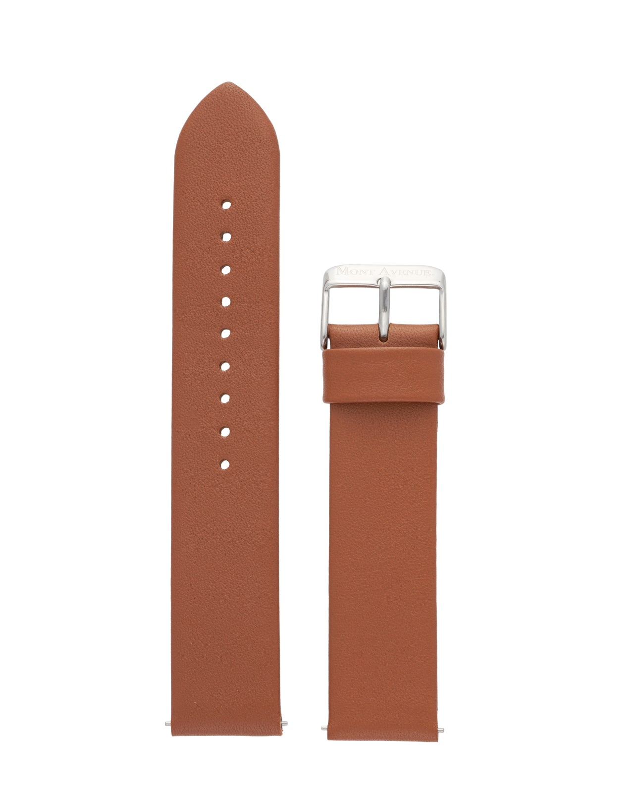 BROWN & SILVER LEATHER STRAP