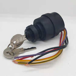 Replacement ignition switch (push to choke) wire ends + 2 keys for Mercury Outboard