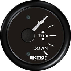 BLACK TRIM GAUGE FOR OUTBOARD MERCURY MARINER YAMAHA SUZUKI TOHATSU - ssimarine