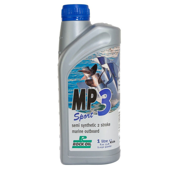 Rock Oil MP3 Sport semi-synthetic 2 stroke marine outboard engine oil TCW3 - ssimarine