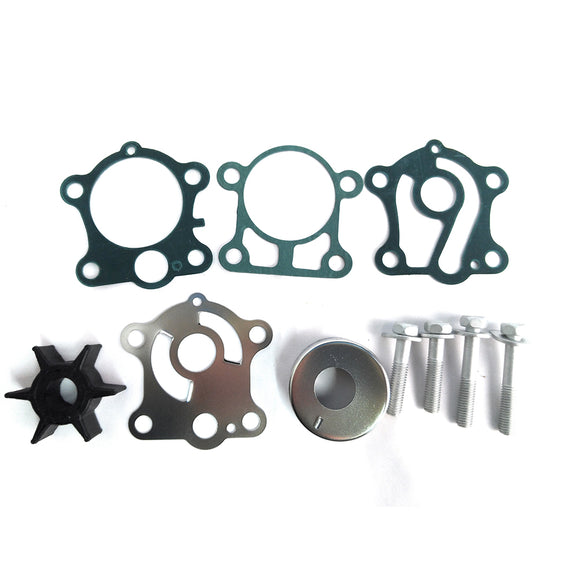 Water Pump Impeller Repair Kits 6J8-W0078-A2 for Yamaha Replacement Water kit 25 HP 30 HP Outboard Motor - ssimarine