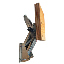 Auxiliary outboard bracket Stainless steel adjustable motor bracket with varnished beech-wood board