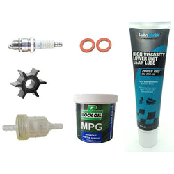 Outboard service kit for Mercury/Mariner 4hp, 5 HP 2 stroke '93 and up (not 6E0 models)