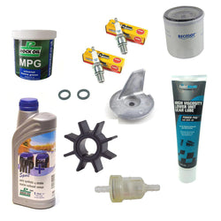 Service Kit for Mercury Mariner 15HP 20HP 4-Stroke Outboard incl Engine & Gear Oil