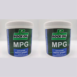 2 x Rock Oil MPG Universal Marine Grease 500 Gram Waterproof Lithium outboard