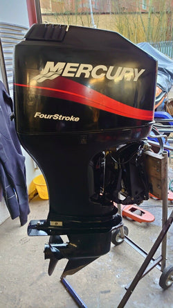 Mercury 90hp 4 stroke electric start remote control outboard power trim year 2000