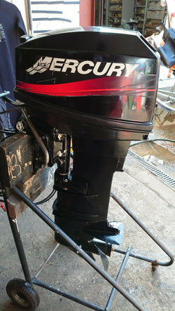 Mercury 25hp 2stroke electric start remote control outboard year 2000 long shaft