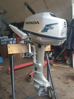 Honda 5hp 4 stroke short shaft 15'' tiller outboard motor manual start 2010