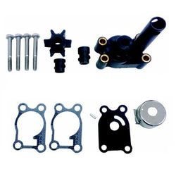 Water Pump Impeller Kit for 4 hp 4.5 hp 6 hp 8 hp Johnson Evinrude Outboard, 12065, 389844, 396644