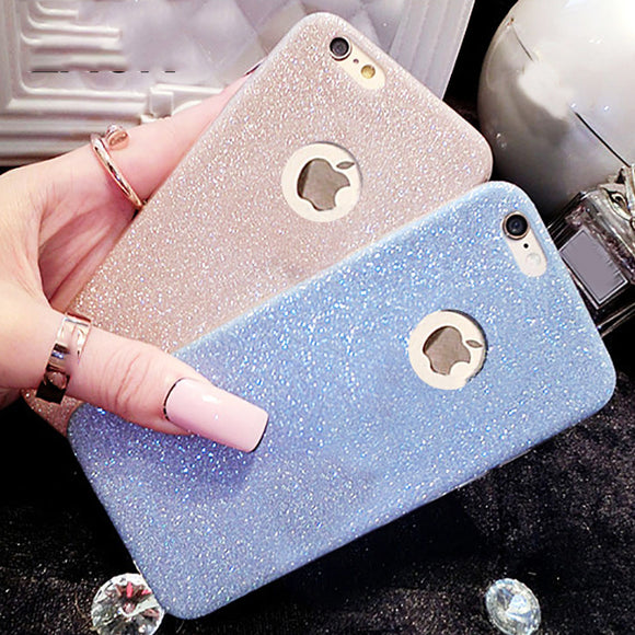Hot Glitter Powder Ultra Thin Soft Case For iPhone