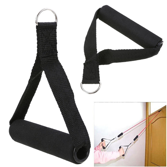 Black Nylon Tricep Rope Cable Handle