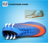 Indoor/Outdoor Futsal Shoes and Soccer Cleats With Ankle Top