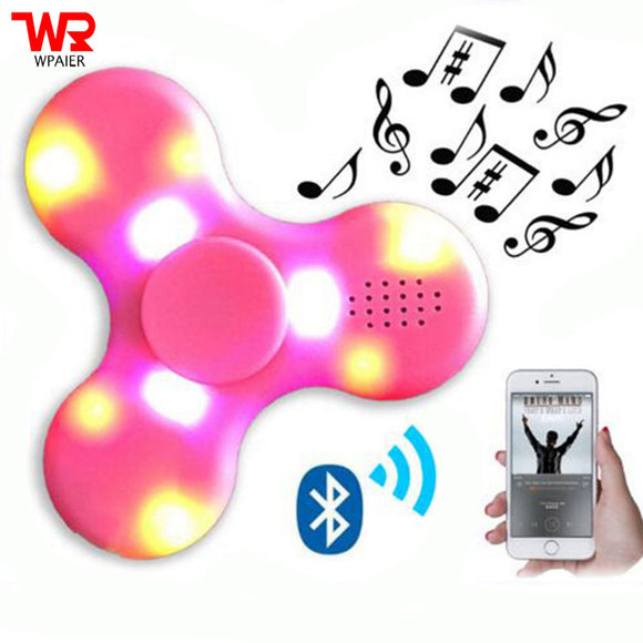 Flashing lights LED MINI Bluetooth spinner speaker