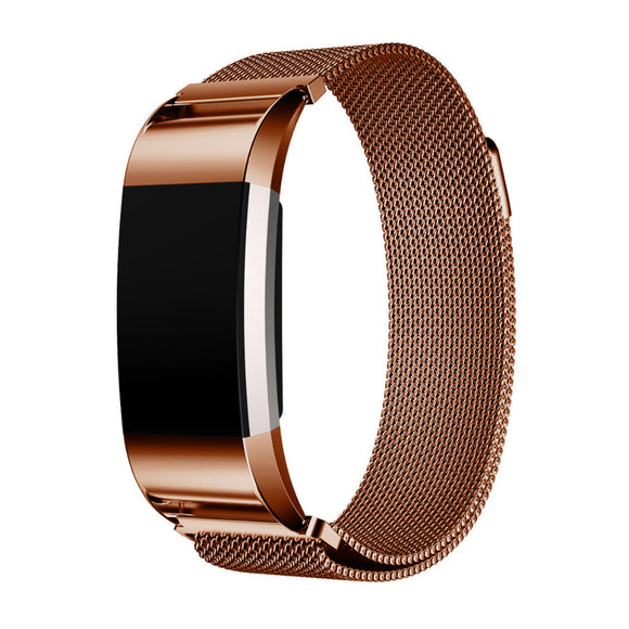 Fitbit Charge 2 Stainless Steel Magnetic Link Bracelet with Adjustable Closure