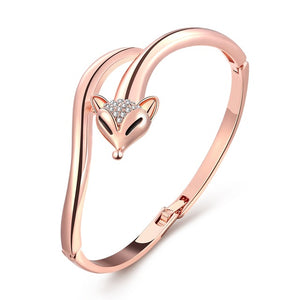 Women's Fox Rose Gold coloured bracelet