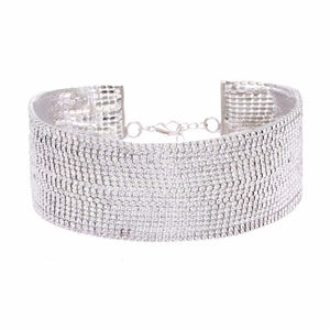Crystal Multi-Layer Diamante Rhinestone Choker
