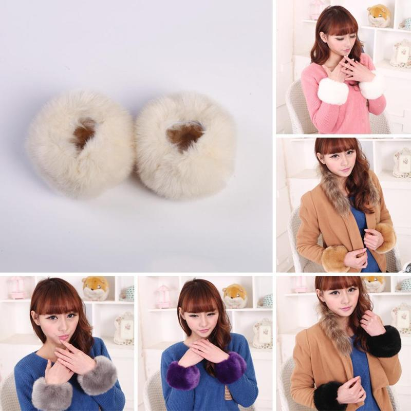Faux Fur Cuffs to dress up any top