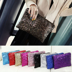 Retro Luxury Sequined Clutch Bag