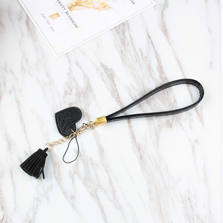 Tassle and charm mobile phone straps