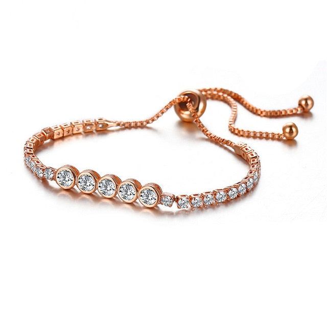 Adjustable rhinestone bracelet