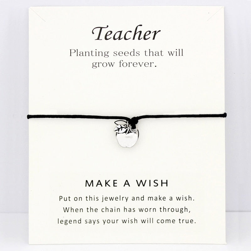 Teacher Gift - Apple Charm Card