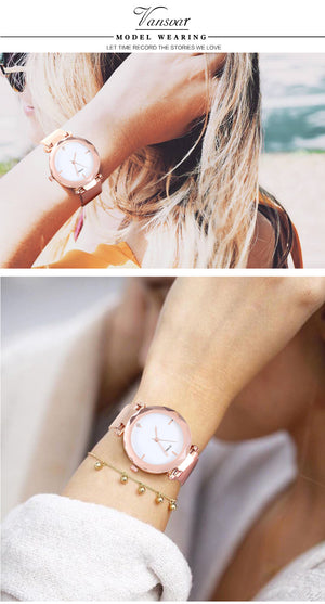 Women's Fashion Watch - Classic Style, Stainless Steel Analog