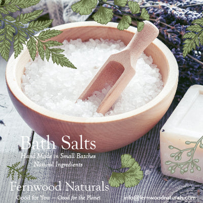 Add on to your Flower Delivery Order: Relaxing Fernwood Naturals Bath Salts — Gift Wrapped