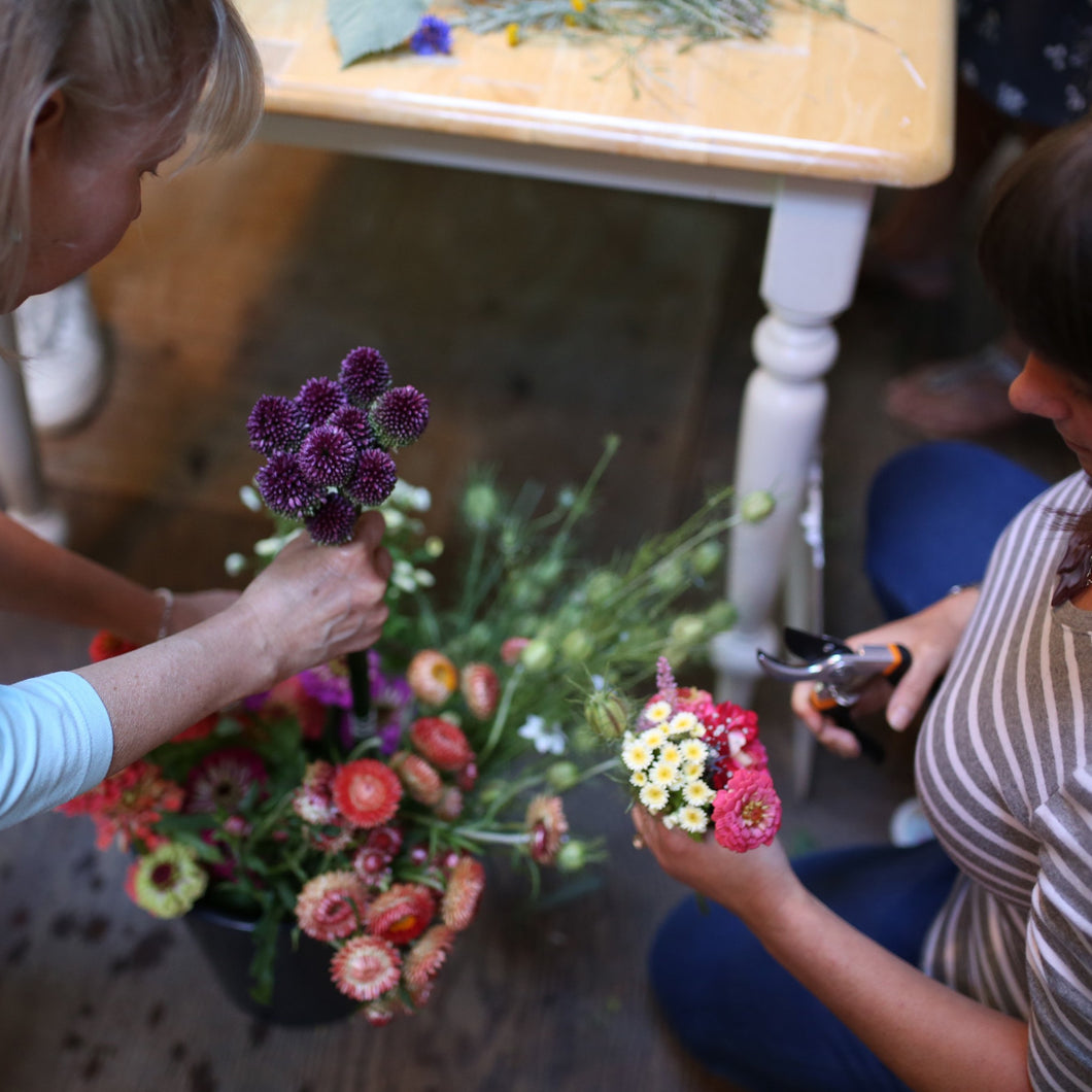 Group Flower Workshop at Alchemy Farm ~ Gift Certificate Available
