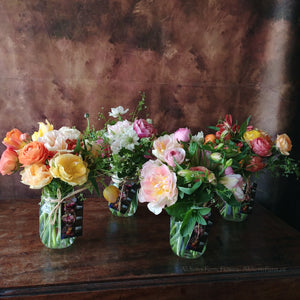 Add On Only Available with Flower Workshop Gift Certificates and Oracle Decks: Mason Jar Posy